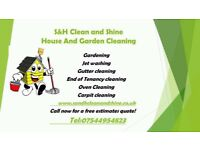 High pressure washing, Carpet cleaning, Guttering, End Of Tenancy cleaning