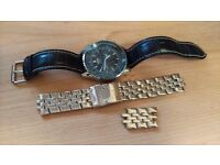 Breitling Navitimer watch wristwatch automatic two straps ***PRICE REDUCED FOR QUICK SALE***