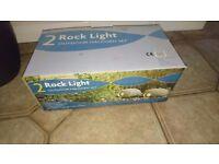 Outdoor rock lights, mains powered