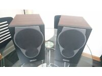 Mission MX1 Stereo Speakers with Walnut Finish. Award Winning Speakers in Excellent Condition