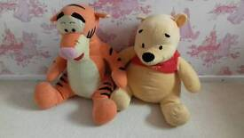 Giant Pooh and Tigger teddies