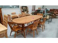 Massive 6ft Solid Pine Dining Table 6 Chairs All In Vgc Can Deliver 07808222995