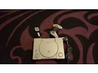 playstation 1 console with no games