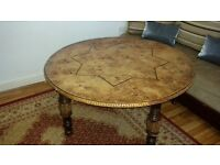 Moroccan style wood table