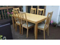 Ikea Dining Table and 6 Chairs for Sale
