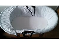 Baby Moses Basket with Rocker (for Boy or girl)- Excellent condition