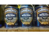 Hammerite black metal paint 5l x3
