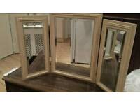 Good quality free standing dressing table mirror