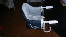 clip on chair - transportable and less spacy alternative to high chair