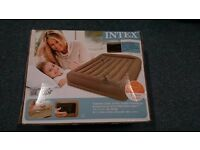 Intex Pillow Rest Mid-Rise Queen Size Airbed + built-in electric pump