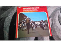 Marching with the marines vintage vinyl lp record