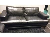 3 seater Sofa including large pouffe