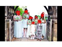3 mint green adult bridesmaid dresses