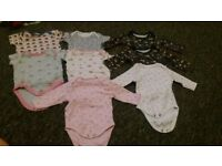 bundle of baby girl clothes