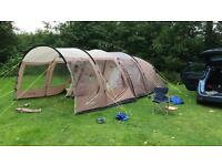Outwell Nevada M Tent with awning and carpet