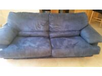 Two seater sofa and pouffe for sale