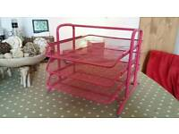 IKEA pink letter tray/organiser