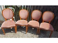 set of 4 louis french chairs