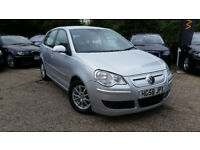 2008 VOLKSWAGEN POLO BLUEMOTION 2 TDI A/C 1.4 DIESEL, 5 DOOR, TIMING BELT BEEN CHANGED, £0 ROAD TAX