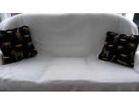"""2 (17 1/2"""" x 17 1/2"""")plump top quality expensive filled cushions with washable removeable covers"""