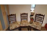 Antique Dining Chairs - Dark Wood