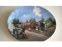 3 x wedgwood steam train display plaques