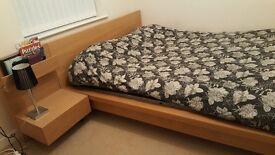 EXCELLENT WOODEN KING SIZE BED AND MATTRESS FOR SALE