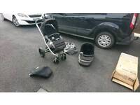 Britax affinity push chair with carrycot plus foot cosy and raincover
