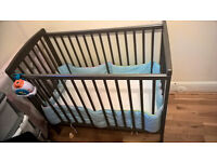 Kinder Valley Mini Kai Compact Baby Cot - Solid Pine Cot - £40