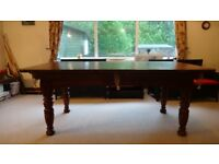 Solid Oak Frame pool Table & slate Bed - 6ft x 3ft
