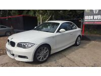 white Bmw 120d M sport coupe diesel auto L@@k p/x considered