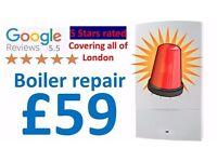 Cheap Boiler Repair £59/Worcester & Vaillant Boiler Installation £1499/Boiler Service £59\ CP12 £59