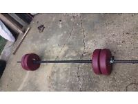 Barbell and dumb bell weight + geem stand