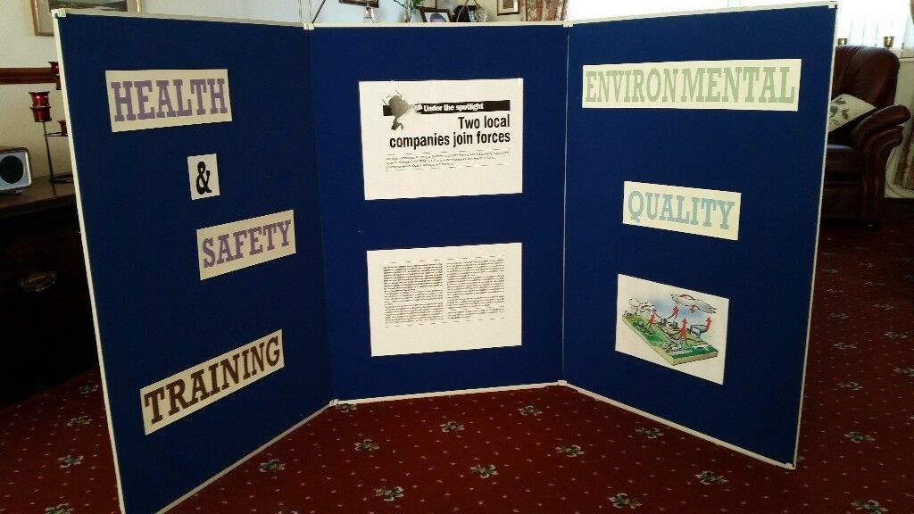 Portable Exhibition Display Boards : Folding portable exhibition trade show display picture presentation
