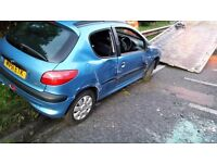 Peugeot 206 lx 2001 spares or repairs must go today