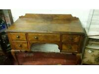 Walnut dressing table