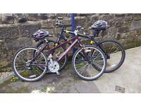 Men and womens hybrid bikes