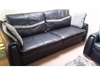 SISI Italia Leather 3 seater & 2 seater settee from SCS. Superb condition