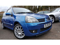 Renault Clio 2.0 16v Renaultsport Cup +1 OWNER SINCE NEW+MOT APRIL 17+6 MONTH WARRANTY INCLUDED