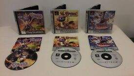 Bundle of All 3 Spyro The Dragon Games Playstation 1 PS1 Complete PS2 PS3