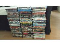 OVER 100 DVDS SOME NEW 50p each or £15 the lot ideal for car boot
