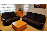 FREE 3-seater and 2-seater leather sofas