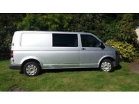 VW T5 2010 LWB insulated, lined with windows ready to convert