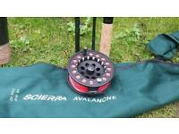 Scierra salmon 15ft rod as Scrierra reel good condition