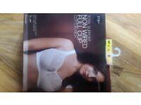 M&S New Total Support Bra Cotton Rich Size 38E