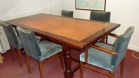 EXECUTIVE BOARDROOM TABLE - EARLY - MID 1900'S PLUS 5 CHAIRS