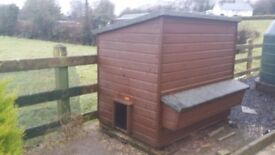 hen house with nest boxes