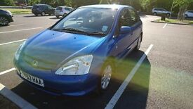 HONDA CIVIC CTDI (DIESEL) 2003 - 5 Doors Hatchback - Low Mileage - 16 inch Alloy