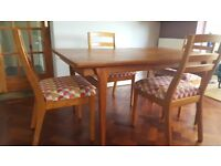 Dining chairs. Set of 4 Nathan mid century.