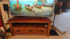 Solid wood corner tv stand table with drawers